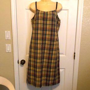 Liz Claiborne Plaid Cotton Dress